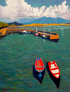 Roundstone Harbour in Connemara in County Galway