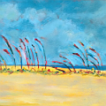 beach grass painting