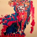 Bovine beast, painting