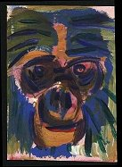painting of a Bonobo
