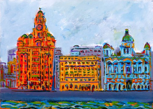 painting of Liverpool's Pier Head