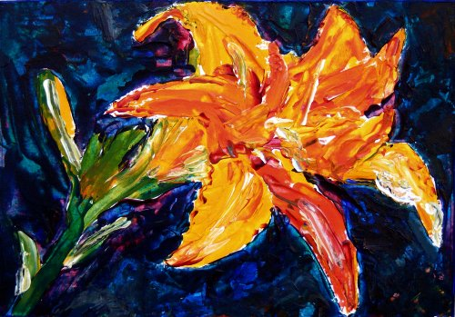 painting of a tiger lily