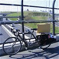 Crossing Dublin's M50 with a large parceled painting on an xtracycle