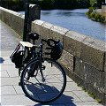 Xtracycle by the river Liffey at Dublin's Heuston Station