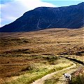 walking by Muckish Mountain in Donegal