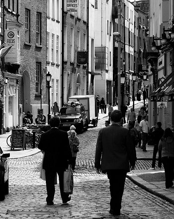 Eustace Street in Dublin's Temple Bar area