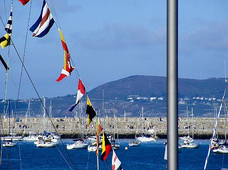 Howth Head as seen from Dun Laoghaire in Dublin, Ireland