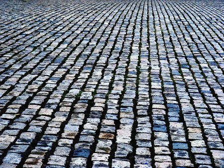 Cobblestones, the newer ones on Dublin's Smithfield
