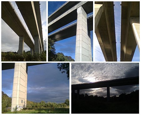 Collage of Photos from under the West-Link on Dublin's M50, Ireland