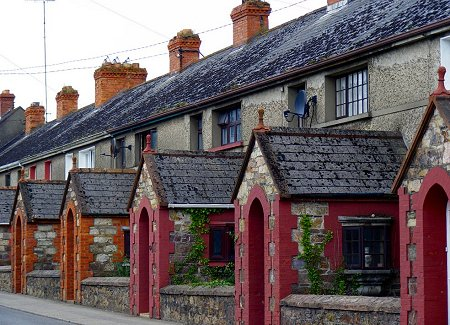 Some houses on a street in Wexford town