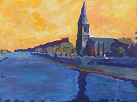 painting of Ballina in Mayo
