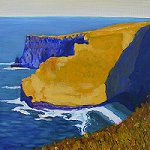 painting of cliffs of moher