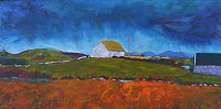 painting of an Irish Stone Cottage