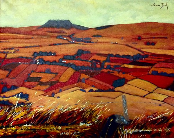 painting of Slemish Mountain in County Antrim