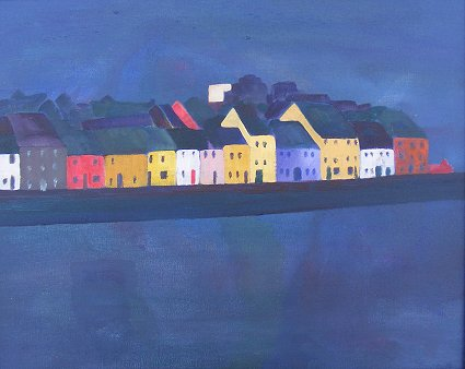 painting of the claddagh in Galway