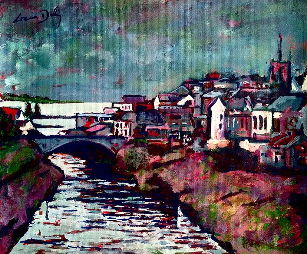 painting of Ballyshannon in County Donegal