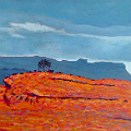 Painting of Barnesmore Gap in Donegal