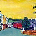 Painting of the Diamond in Donegal Town