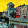 Painting of Four Courts from East, Dublin