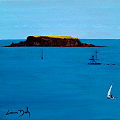Painting of the island of Adam in Glandore Harbour in County Cork