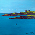 Painting of Long Point at Glandore Harbour in County Cork