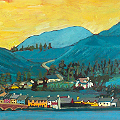 Painting of Leenane in Galway