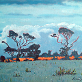Painting of trees in West Cork