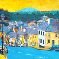 Painting of High Street in Westport in County Mayo