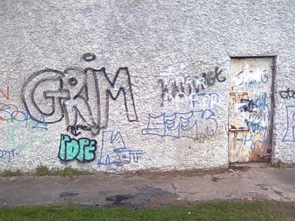 graffiti in Dublin West