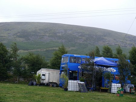 Knockan Stockan Music Festival blue bus