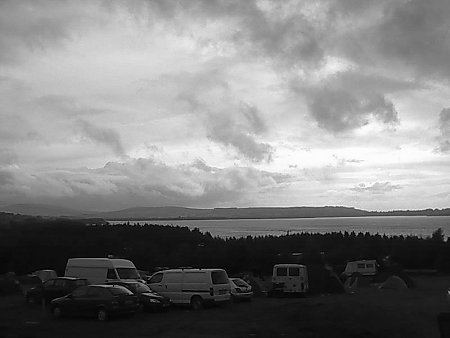 Knockan Stockan Music Festival campsite & lake