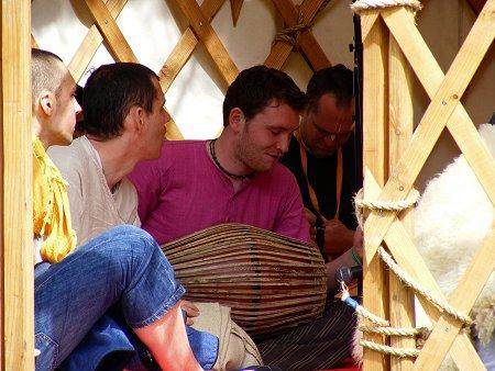 Knockan Stockan Music Festival Hare Krishna tent